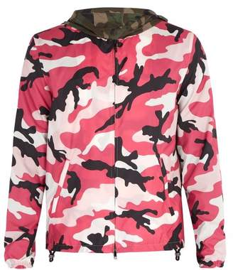 Valentino Camouflage Print Windbreaker - Mens - Pink