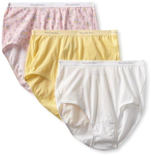 Fruit of the Loom Women's 3 Pack Brief Panties