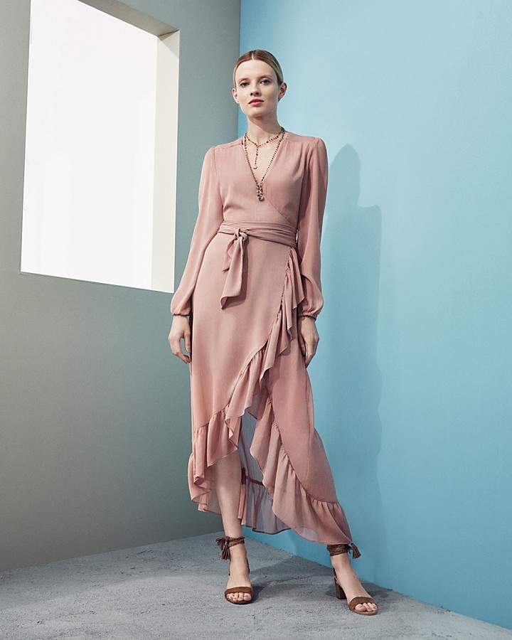 WAYF Only You Ruffle Wrap Dress - 100% Exclusive 4