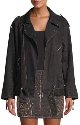 The Kooples Embroidery Denim Jacket