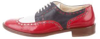 Robert Clergerie Brogue Leather Oxfords