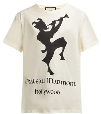 0b7571fa6b3a Gucci Chateau Marmont Print Cotton T Shirt - Womens - Ivory Multi