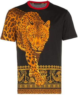 Versace Signature Wild print cotton t shirt