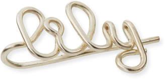 Atelier Paulin Personalized 7-Letter Wire Earring Cuff, Sterling Silver, Left