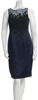 Carmen Marc Valvo Sleeveless Embellished Dress $175 thestylecure.com