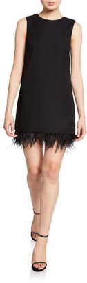 Club Monaco Quinella Sleeveless Dress w/ Feather Hem