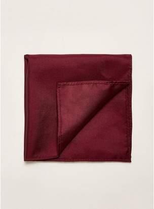 Topman Mens White Premium Silk Burgundy Pocket Square