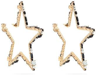 Valentino Star-shaped crystal hoop earrings