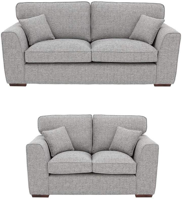 Rio 3-Seater + 2-Seater Standard Back Fabric Sofa Set