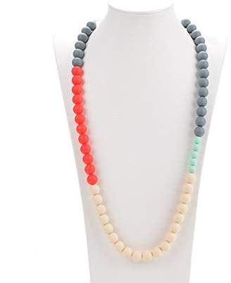 Life is Good Consider It Maid Silicone Teething Necklace for Mom to Wear - FREE E-BOOK - BPA FREE and FDA Approved