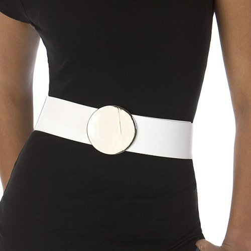 Merona® Patent Belt with Round Buckle - White