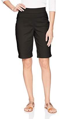 Napa Valley Women's Cotton Super Stretch Pull on Bermuda Short