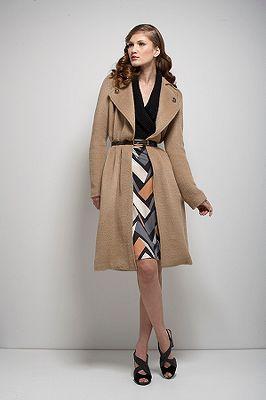 Sabra Coat in Camel or Midnight