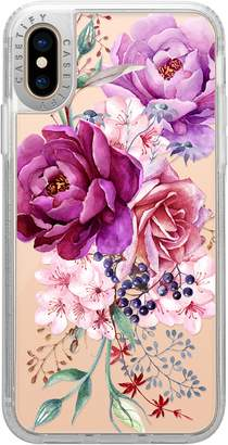 CASETIFY Watercolor Peonies Grip iPhone X/Xs, XR & X Max Case