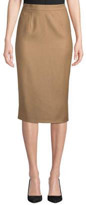 Escada Flannel Pencil Skirt