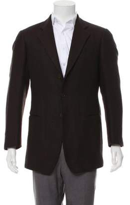 Giorgio Armani Cashmere Patterned Blazer brown Cashmere Patterned Blazer