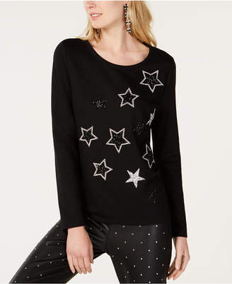 INC International Concepts I.n.c. Rhinestone-Star Sweatshirt