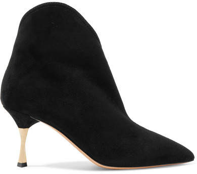 Valentino - Suede Ankle Boots - Black