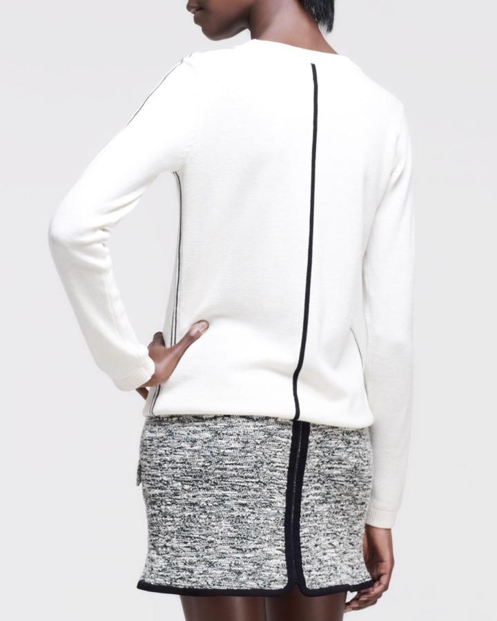 Rag and Bone Rag & Bone Briana Contrast-Detail Sweater