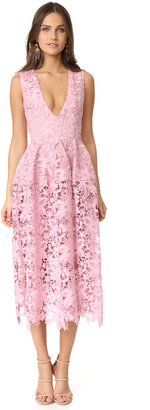 Nicholas Bellflower Deep V Ball Dress $695 thestylecure.com