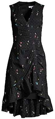 Parker Women's Candy Ruched Floral Eyelet Dress