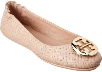 Tory Burch Quilted Minnie Leather Ballet Flat