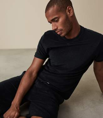 Reiss TERRY TOWELLING T-SHIRT Navy