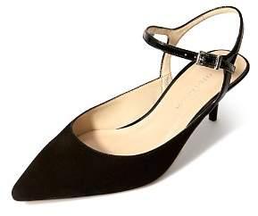 Karen Millen Women's Court Leather Kitten Heel Pumps