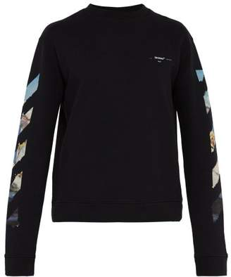Off-White Off White Arrow Graphic Print Cotton Sweatshirt - Mens - Black