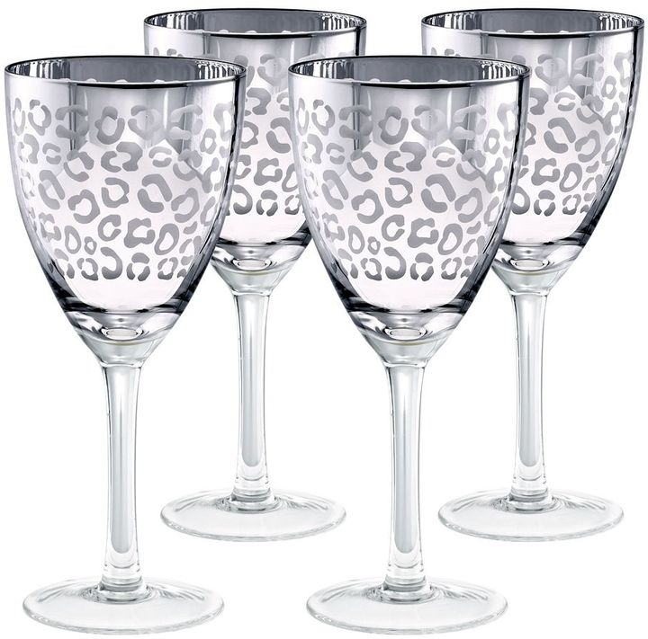 ArtlandArtland Leopard 4-pc. Wine Glass Set