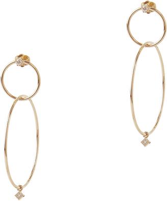 Zoe Chicco Mixed Diamond Interlocking Hoops