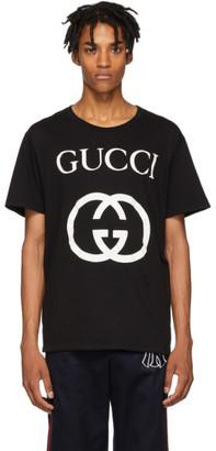 Gucci Black GG Logo T-Shirt