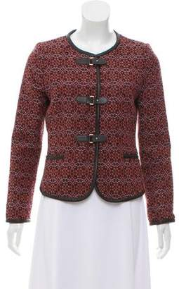 Claudie Pierlot Patterned Collarless Jacket