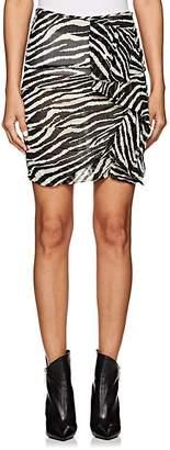 Etoile Isabel Marant Women's Jerine Zebra-Print Chiffon Miniskirt