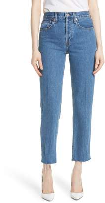RE/DONE High Waist Stove Pipe Jeans