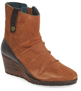 Women's The North Face 'Bridgeton' Waterproof Wedge Bootie $149.95 thestylecure.com