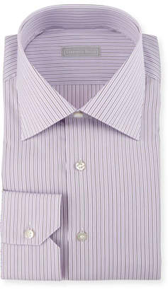 Stefano Ricci Striped Dress Shirt, Purple