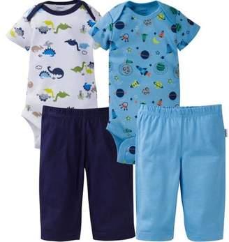 ONESIES Brand Newborn Baby Boy Layette Outfit Set, 4-Piece