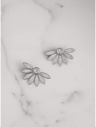Burberry Crystal Half-daisy Stud Earrings