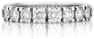 FineTresor 1 Carat Diamond Wedding Band on 14k White Gold