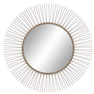 "Patton Wall Decor 30"" Brushed Silver Sunburst Wall Accent Mirror"