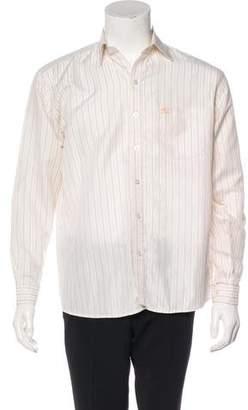 Burberry Jacquard Striped Button-Up Shirt