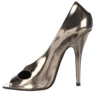 Givenchy Metallic Peep-Toe Pumps