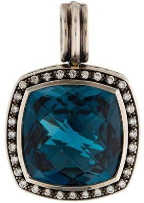 David Yurman Blue Topaz & Diamond Albion Pendant