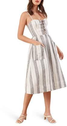Reformation Ellen Linen Midi Dress