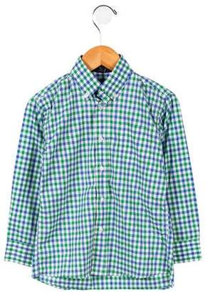 Oscar de la Renta Boys' Checkered Button-Up Shirt