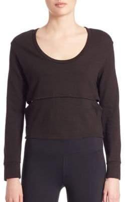 Cutout Cropped Sweatshirt