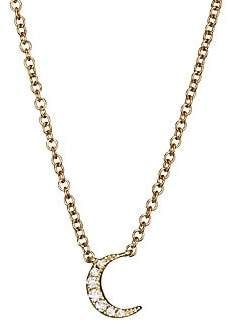 Ef Collection Women's 14K Yellow Gold Diamond Moon Choker