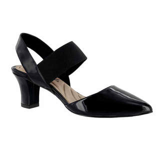 Easy Street Shoes Womens Vibrant Pumps Elastic Pointed Toe Spike Heel