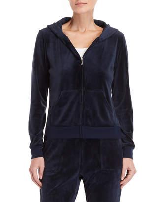Juicy Couture Velour Sequin Logo Hoodie